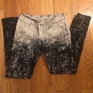 LF CARMAR Two Tone Splatter Paint Effect Jeans